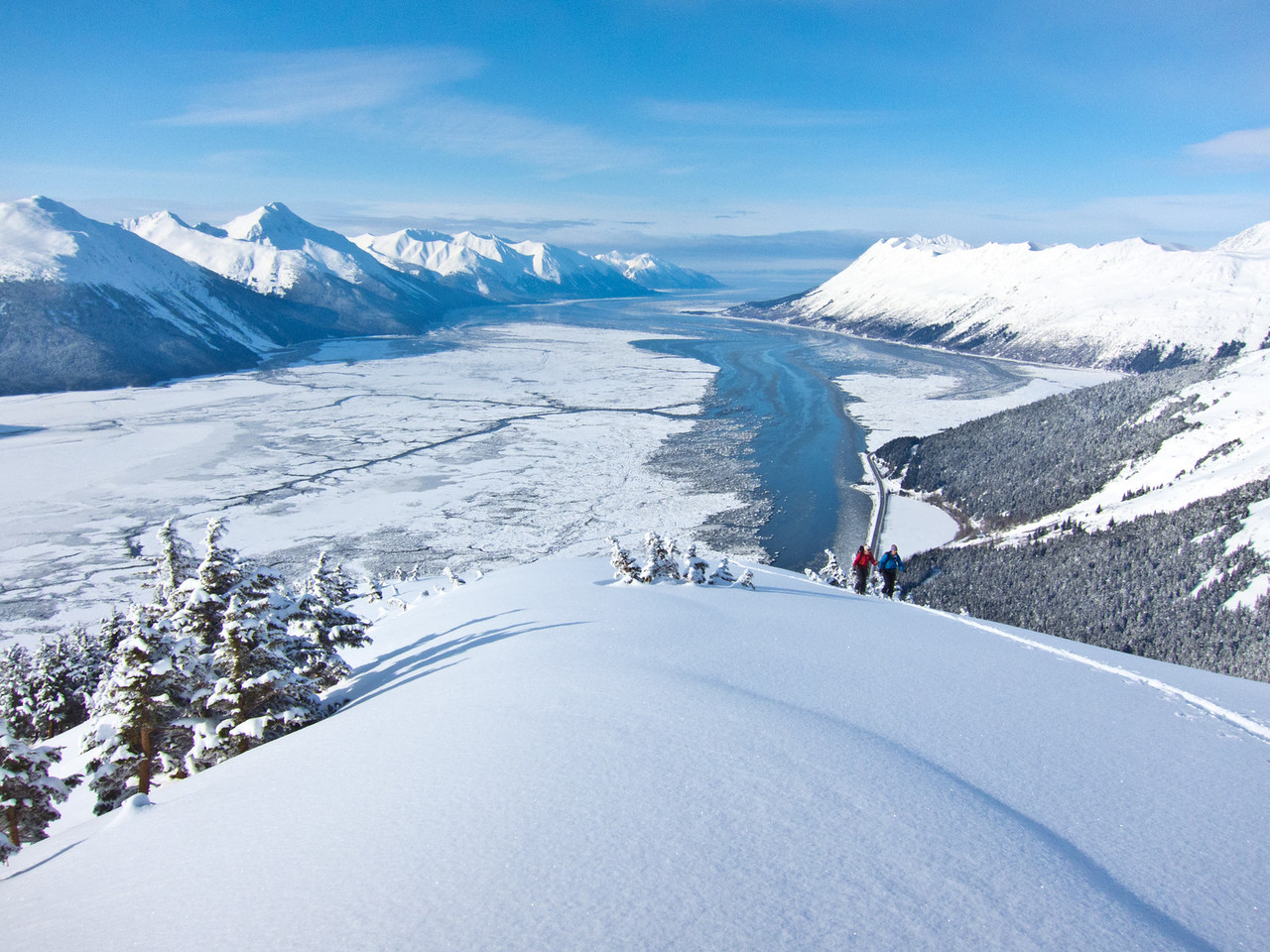 """Overlooking turnagain pass on the way to ski """"buns of steel"""""""