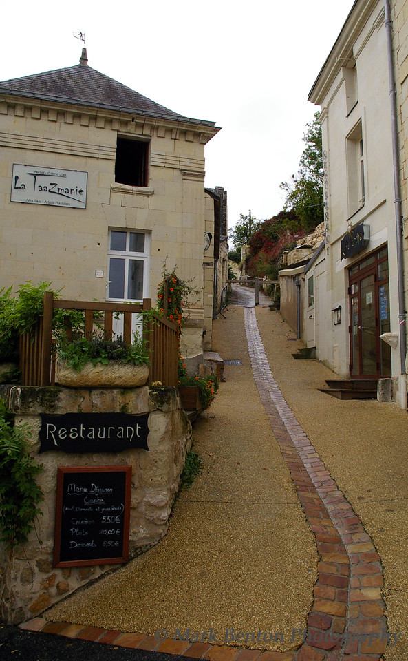 Restaurant and Lane in Saumar France