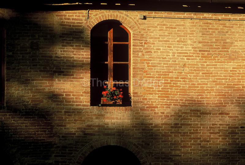 Monastery window, Tuscany, Italy.