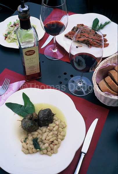 Tuscan meal.