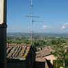 San Gimignano, in Tuscany, view from our apartment.