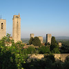 San Gimignano, in Tuscany, view from the town wall.