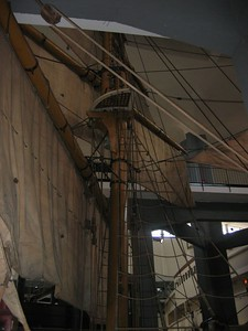 A real sailing ship, Museum of Science and Industry, Milan