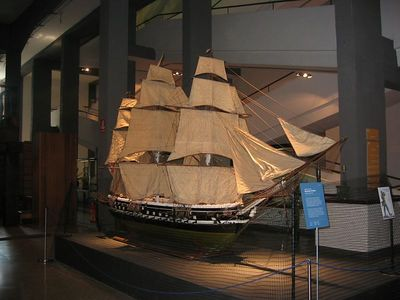 Model of a sailing ship, Museum of Science and Industry, Milan