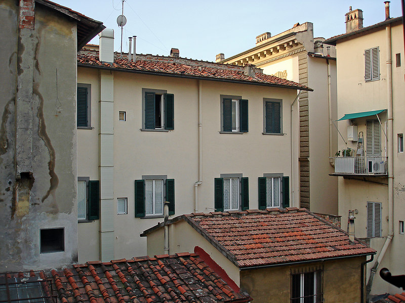 Out our hotel room window - at the Hotel Bigallo across from the Duomo.