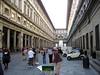 Piazzale Uffizi - and most of the vendors have moved on to another attraction - the Duomo?