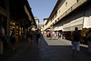 The shopping, especially expensive jewelry shops (men, guard your credit cards!), on Ponte Vecchio, Florence.