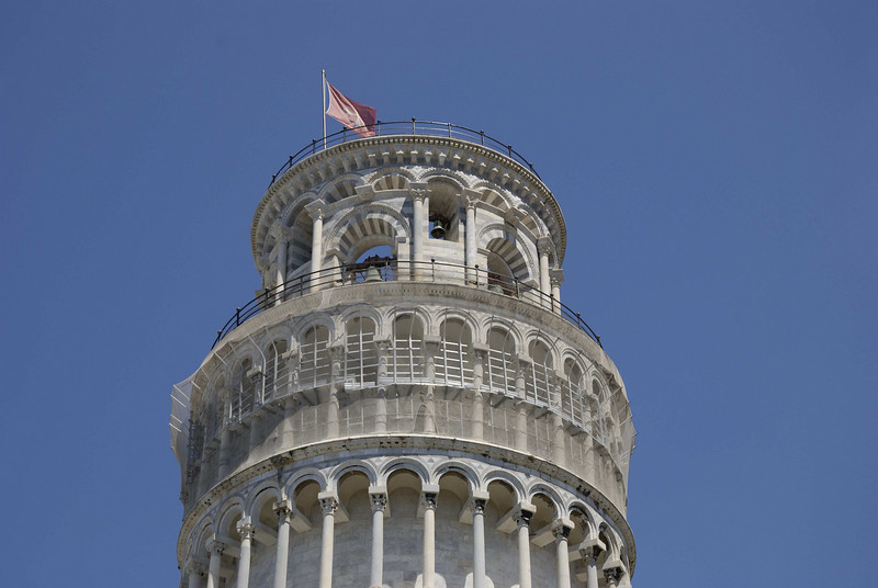 The Leaning Tower, Pisa. Work began in 1173.