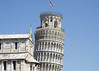 The top of the Leaning Tower, Pisa.