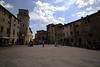 The central piazza of San Gimignano.