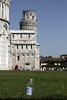 The Leaning Tower, Pisa. In 1990 it was 15 feet out of the vertical, but in 2008 the bottle was 20 ft out!