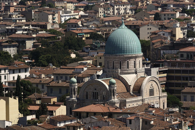A typical Florence scene from the top of the Campanile.