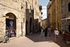 A street in San Gimignano.