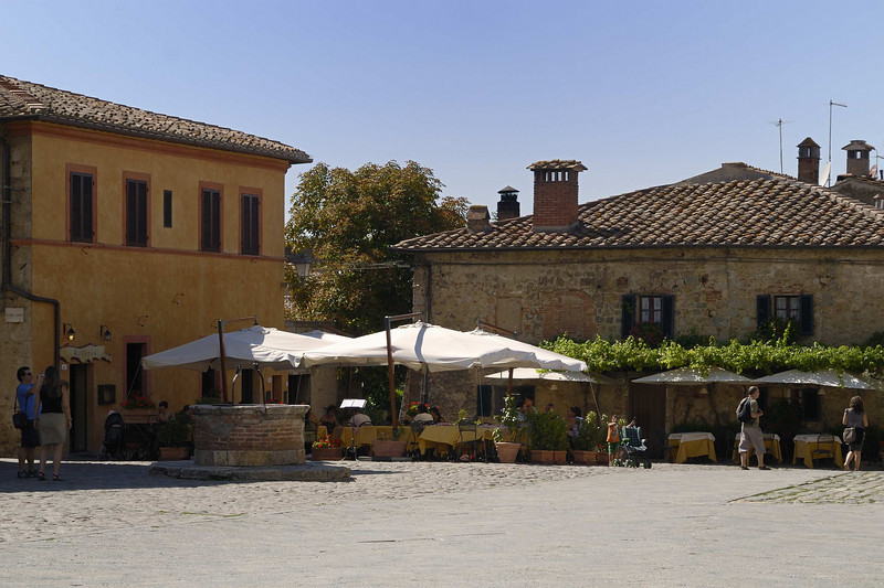 The restaurant in Monteriggioni, central Tuscany