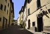 Village street in San Miniato al Tedesco, central Tuscany.
