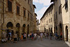 The main street of San Gimignano.