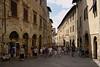 The main street of San Gimignano.