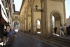 Florence, the covered walkway along the River Arno and behind the Uffizi Museum.