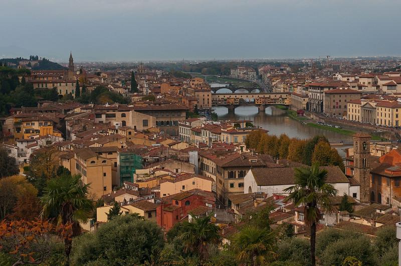 Ponte Vecchio across the Arno River in Florence.
