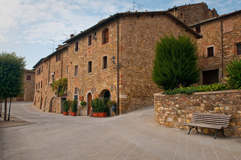 """The village of Barbarino Val d'Elsa, in the Chianti region of Tuscany.  Staying here in the village for about a month, we were struck by how immaculate the village was kept.  The """"well kept"""" look that you see here is reflective of what we saw throughout the region...a great deal of pride in community."""