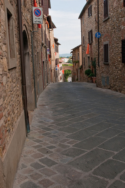 The narrow streets of Barbarino Val d'Elsa - located in the Chianti region of Tuscany.