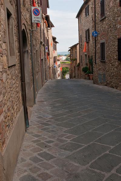 The narrow streets of Barbarino Val d'Elsa - located in the Chianti region of Tuscany.