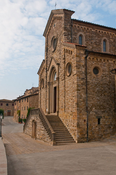 The community church in Barbarino Val d'Elsa.