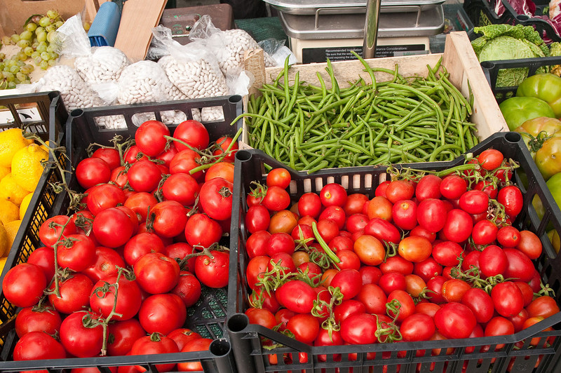 Saturday market and fresh vegetables.