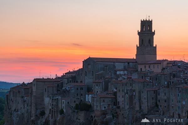 Pitigliano after sunset