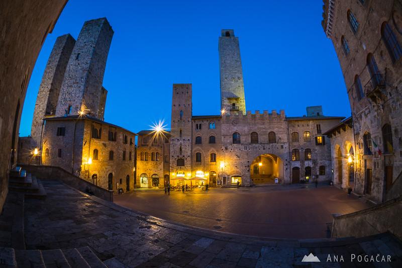 San Gimignano in blue hour