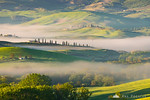 Early morning mists in Val d'Orcia
