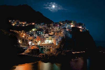 Moonlight over Cinque Terre