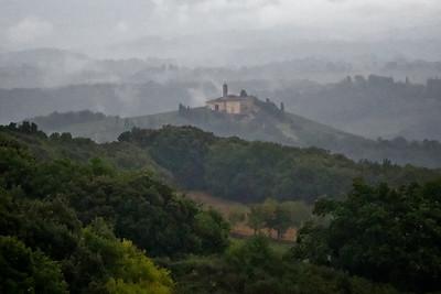 Misty Tuscany morning