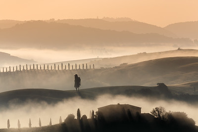 Hazy morning in Tuscany