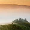 Foggy morning in Tuscany