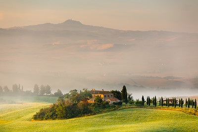 Early morning over country in Tuscany, Italy
