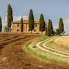 Sunny countryside near Pienza, Tuscany, Italy