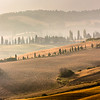 Scenic view of typical landscape in Tuscany, Italy