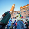 Winner´s celebration of Palio in Piazza il Campo in Siena