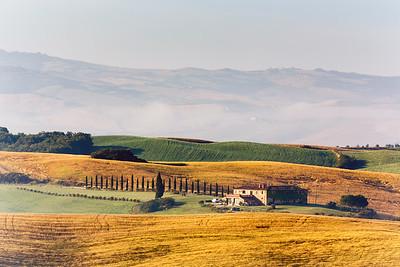 Farmhouse in countryside