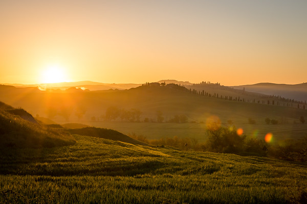 Sunrise in Crete Senesi