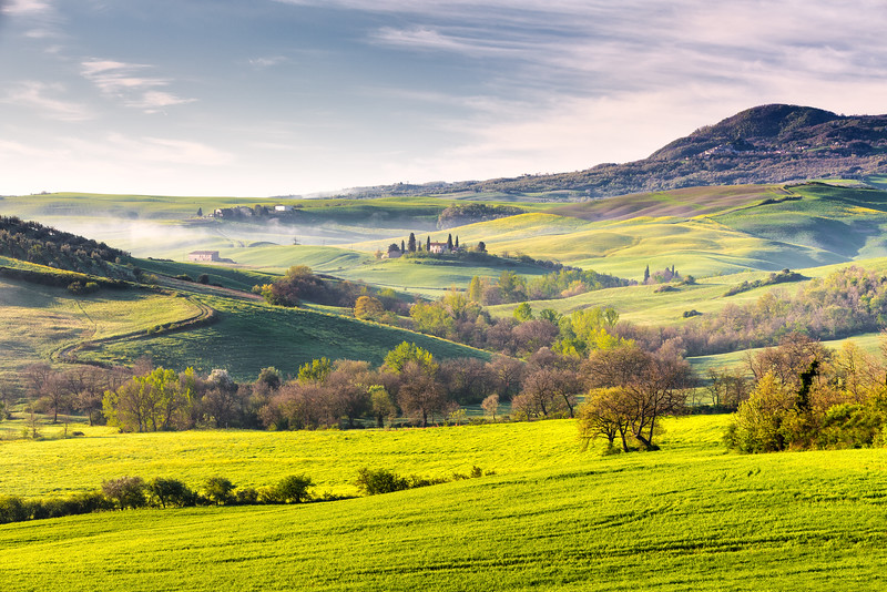 Landscape near San Quirico d´Orcia, Tuscany, Italy, 2016