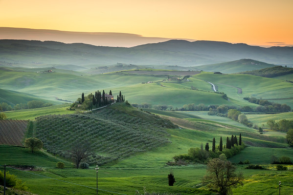 Peaceful morning in Tuscany