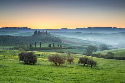 Sunrise, San Quirico d´Orcia, Tuscany, Italy, 2016
