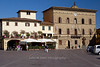 The Palazzo del Comune is located on the triangular shaped piazza in Greve, Tuscany, Italy
