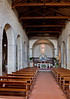 Nave of Pieve di San Leonlina, a small Romanesque church near Panzano, Tuscany, Italy