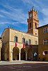 Palazzo Comunale and tower, Pienza, Siena, Tuscany, Italy