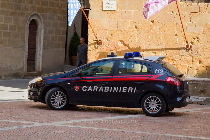 Carabinieri, national police, Pienza, Siena, Tuscany, Italy