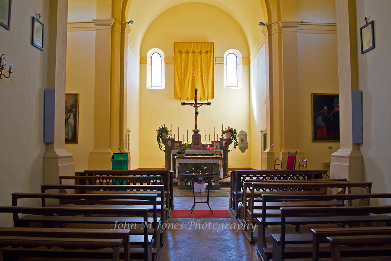 Castell di Volpaia church interior, Chianti region of Tuscany, Italy