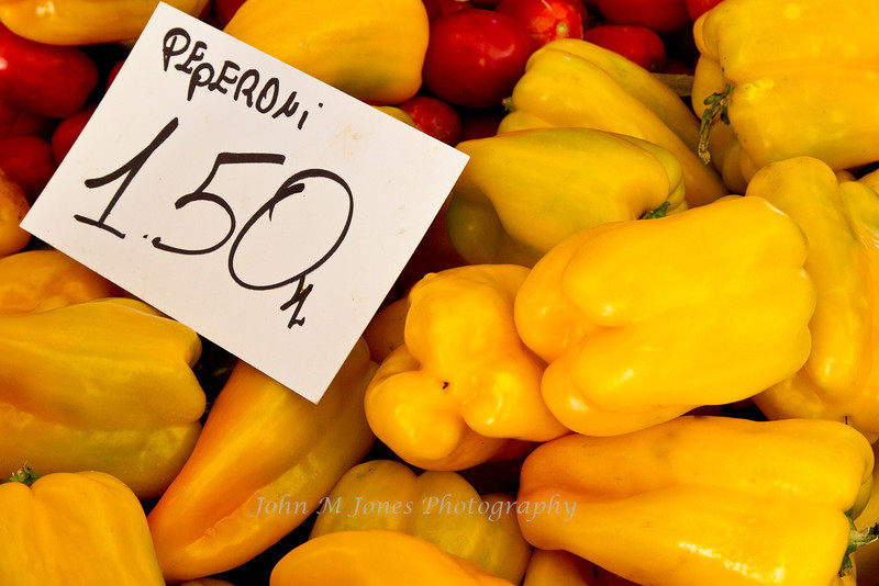 Peppers at market in Greve in Chianti, Tuscany, Italy